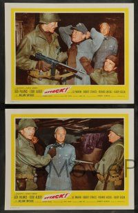 7w058 ATTACK 8 int'l LCs '56 WWII soldiers Lee Marvin, Jack Palance & Richard Jaeckel!