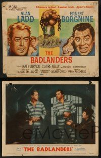 7w064 BADLANDERS 8 LCs '58 images of Alan Ladd, Ernest Borgnine, Katy Jurado, Claire Kelly!