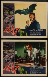 7w068 BAT 8 LCs '59 horror, Vincent Price & sexy girls in peril!