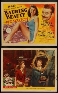 7w069 BATHING BEAUTY 8 LCs '44 Red Skelton, sexy Esther Williams, Harry James!