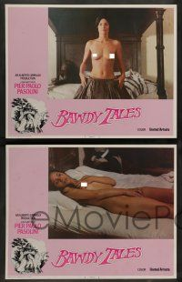 7w071 BAWDY TALES 8 LCs '74 Storie Scellerate, Pier Paolo Pasolini sex, with great nude images!