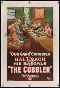 7x088 COBBLER linen 1sh '23 great stone litho of Farina, Sunshine Sammy & other Our Gang kids!