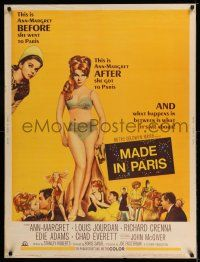 7z047 MADE IN PARIS 30x40 '66 super sexy full-length Ann-Margret before and after she got there!