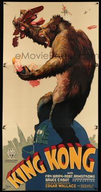 7z011 KING KONG S2 recreation 3sh 1997 classic art of the fierce ape on Empire State Building!