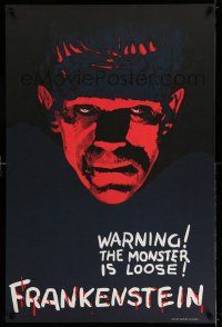 7z014 FRANKENSTEIN S2 recreation teaser 1sh 2000 incredible close-up of Boris Karloff as the monster!