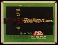 7z066 12 ANGRY MEN style B 1/2sh '57 best image from this classic movie, art of stars in knife blade