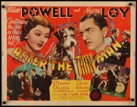 7z067 AFTER THE THIN MAN 1/2sh '36 William Powell, Myrna Loy & Asta, great montage, ultra rare!