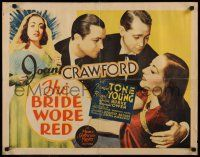7z071 BRIDE WORE RED 1/2sh '37 Joan Crawford in love triangle with Franchot Tone & Robert Young!