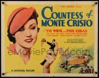 7z073 COUNTESS OF MONTE CRISTO 1/2sh '34 great image of tiny man offering jewel box to Fay Wray!