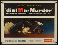 7z076 DIAL M FOR MURDER 1/2sh '54 Alfred Hitchcock, Grace Kelly reaches for phone while attacked!