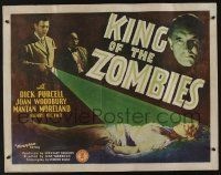 7z081 KING OF THE ZOMBIES 1/2sh '41 couple crash lands & finds mad doctor using undead in WWII!