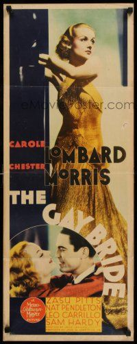 7z053 GAY BRIDE insert '34 incredible full-length image of sexy Carole Lombard + Chester Morris!