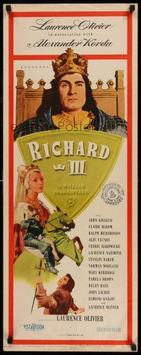7z061 RICHARD III insert '56 Laurence Olivier as the director and in the title role!