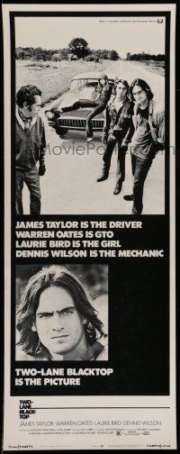 7z064 TWO-LANE BLACKTOP insert '71 James Taylor is the driver, Warren Oates is GTO, Laurie Bird!
