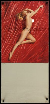7z028 MARILYN MONROE 16x34 calendar page '52 full-length sexy nude, A New Wrinkle by Tom Kelley!