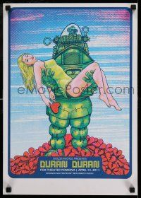 7z027 DURAN DURAN 14x20 music concert poster '11 cool art of Robby the Robot from Forbidden Planet