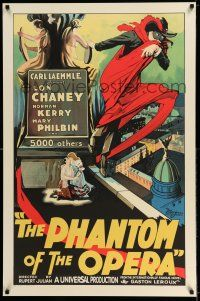 7z018 PHANTOM OF THE OPERA S2 recreation 1sh 2000 great stone litho artwork of Lon Chaney!