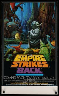 7z045 EMPIRE STRIKES BACK radio poster '80 George Lucas sci-fi classic, cool art by McQuarrie!