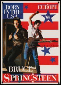 7z026 BRUCE SPRINGSTEEN 24x34 music poster '85 Born in the U.S.A. tour in Europe, great image!