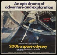 8a002 2001: A SPACE ODYSSEY Cinerama 6sh '68 Stanley Kubrick classic, art of space wheel by McCall!