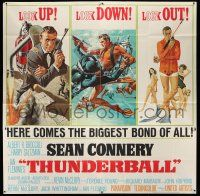 8a007 THUNDERBALL 6sh '65 art of Sean Connery as James Bond by Robert McGinnis & Frank McCarthy!