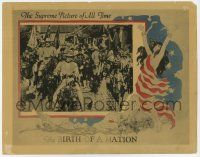 8a052 BIRTH OF A NATION LC R21 D.W. Griffith, Henry B. Walthall & soldiers 'rescue' southern town!