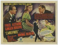 8a039 CAREFREE TC '38 Fred Astaire & Ginger Rogers dancing together again, Irving Berlin musical!