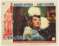 8a061 DESIRE LC '36 wonderful c/u of sexy jewel thief Marlene Dietrich holding pearl necklace!