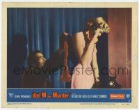 8a063 DIAL M FOR MURDER LC #2 '54 Hitchcock, killer Anthony Dawson sneaks up on Grace Kelly!