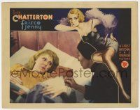 8a068 FRISCO JENNY LC '33 wonderful sexy pre-Code border art of Ruth Chatterton & c/u in bed!