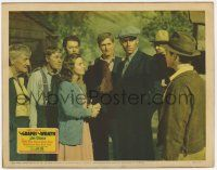 8a069 GRAPES OF WRATH LC '40 Henry Fonda comes home from prison & warily eyes his sister's husband!