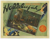 8a070 HALLELUJAH LC '29 King Vidor all-black musical, great border art & a wonderful scene, rare!