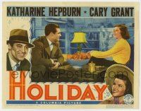 8a072 HOLIDAY LC '38 great c/u of Katharine Hepburn & Cary Grant smiling at each other!