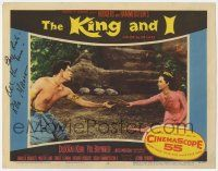 8a035 KING & I signed LC #2 '56 by Rita Moreno, who's reaching for barechested Carlos Rivas!