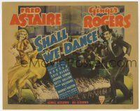 8a047 SHALL WE DANCE TC '37 wonderful art of sexy Ginger Rogers dancing with Fred Astaire!