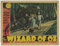 8a038 WIZARD OF OZ LC '39 Judy Garland, Ray Bolger, Jack Haley & Toto on the Yellow Brick Road!