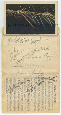 8a026 INTERESTING HOLLYWOOD CALIFORNIA signed 4x6 booklet '40s by Bette Davis, Gracie & 9 others!