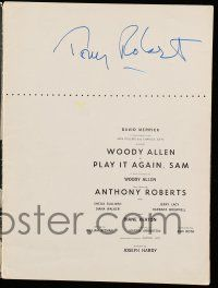8a028 TONY ROBERTS signed stage play souvenir program book '69 when he was in Play It Again Sam!