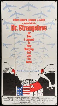 8b009 DR. STRANGELOVE 3sh '64 Stanley Kubrick classic, Peter Sellers, great Tomi Ungerer art!