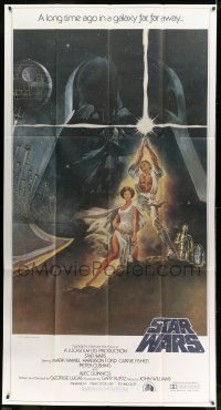 8b010 STAR WARS 3sh '77 George Lucas classic sci-fi epic, great art by Tom Jung!