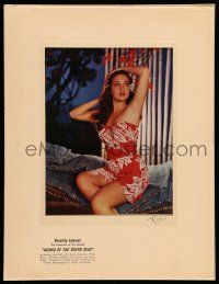 8b024 ALOMA OF THE SOUTH SEAS color 7.5x9.25 still '51 Dorothy Lamour posing in sarong by Richee!
