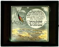 8b005 GRIM GAME glass slide '19 Harry Houdini, aeroplanes crash & plunge from 4,000 ft in the air!