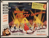 8b117 INVASION OF THE BODY SNATCHERS style B 1/2sh '56 spotlight style on no other poster!