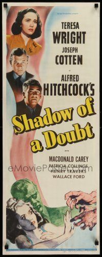 8b180 SHADOW OF A DOUBT insert '43 Alfred Hitchcock,Joseph Cotten, Teresa Wright, cool image!