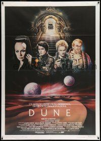 8b045 DUNE Italian 1p 84 David Lynch, different Casaro art of MacLachlan & top stars over 2 moons!