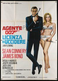 8b037 DR. NO Italian 2p R70s different montage of Sean Connery as James Bond + sexy Ursula Andress