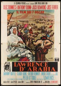 8b038 LAWRENCE OF ARABIA style A Italian 2p '63 David Lean classic, cool different art by Cesselon!