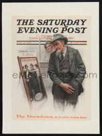 8b015 SATURDAY EVENING POST magazine cover May 17, 1913 Robinson art of man looking at movie poster!
