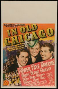 8b060 IN OLD CHICAGO WC '38 Tyrone Power, Alice Faye & Don Ameche, great American motion picture!