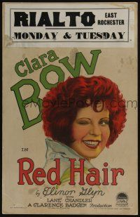 8b070 RED HAIR WC '28 sexy gold-digging manicurist Clara Bow wants a rich husband, great art!